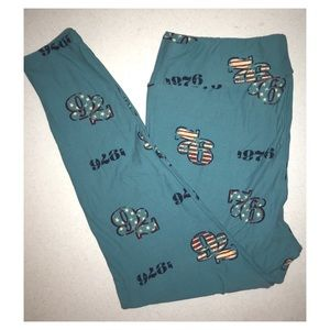 7️⃣6️⃣ Lularoe Americana Leggings TC2 Teal